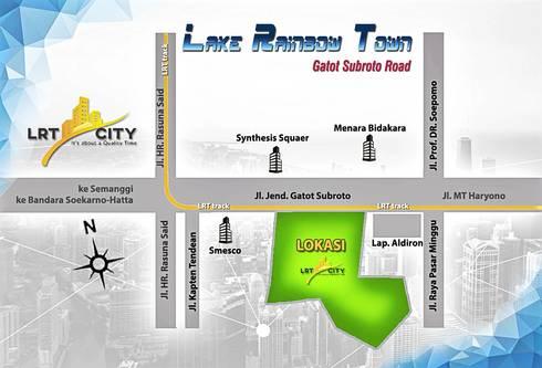 Masterplan LRT city - Gatot subroto Road - Jakarta 3:   by bplusarsitektur
