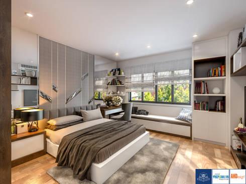 Thiết kế phòng ngủ master:   by Công ty TNHH thiết kế nội thất KingPlace