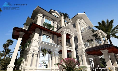 Biệt thự Tân cổ điển – Nam Định:   by Công ty CP Kiến trúc và Xây dựng Nhà Mát