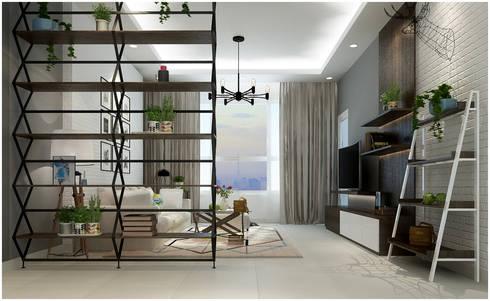 Living Room:  Phòng khách by Công ty TNHH TMDV Decor KT