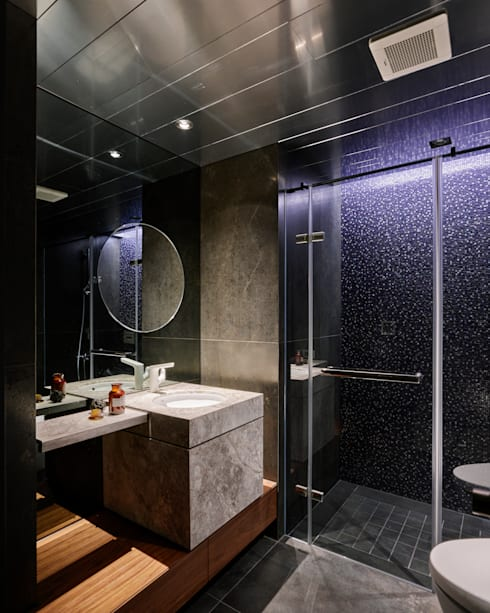 Ru Residence:  浴室 by 沈志忠聯合設計