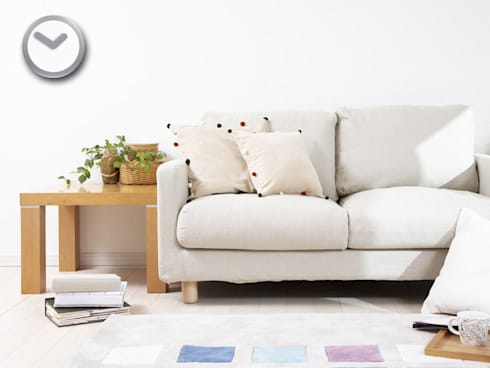 Nextime Focus Silver Clock: modern Living room by Just For Clocks