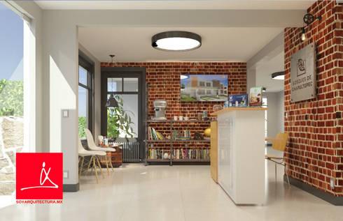 ¿Quienes Somos?: Estudios y oficinas de estilo moderno por Soy Arquitectura