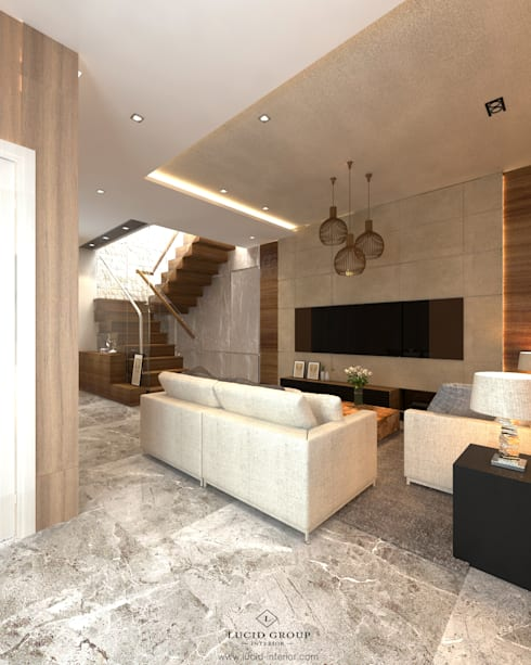 Grawisa Residence:  Living room by lucid interior