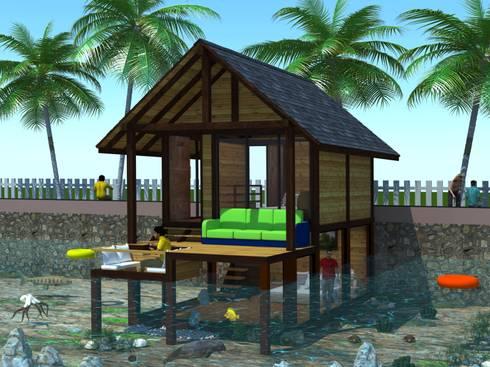 Bahay Kubo cottage:  Hotels by MRJ ASSOCIATES