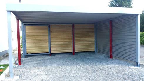 Doppelcarport mit Geräteraum von Carport-Schmiede GmbH + Co. KG   homify