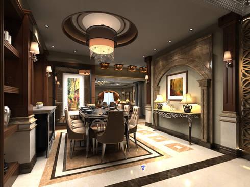 غرفة السفرة تنفيذ  Axis Architects for architecture and interior design