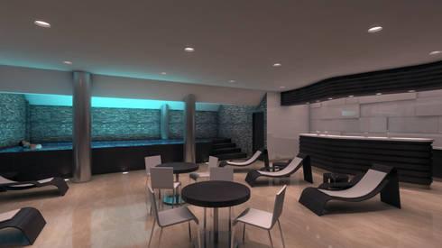 SPA: Espacios comerciales de estilo  por OMAR SEIJAS, ARQUITECTO