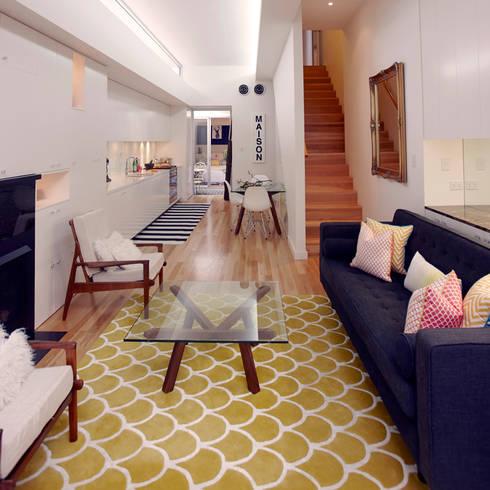 Bright and Modern : scandinavian Living room by Atelier Lane | Interior Design