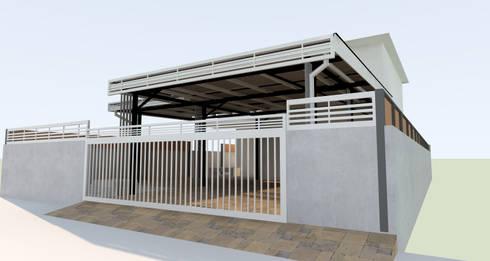 แก้ไขงานรั้วเดิม:  บ้านและที่อยู่อาศัย by ออกแบบ เขียนแบบ ก่อสร้าง
