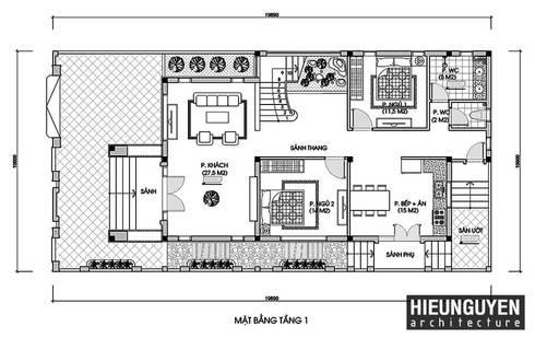 Thiết kế nhà đẹp tại Nam Định:   by CÔNG TY TNHH TƯ VẤN THIẾT KẾ KIẾN TRÚC & NỘI THẤT SMALLHOME