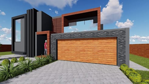 Midrand upgrade by blackstructure architects homify for Modern house upgrades