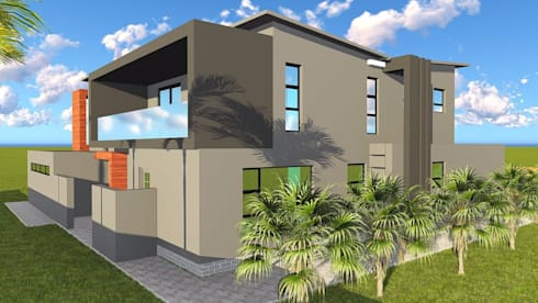 Midrand Upgrade: modern Houses by Blackstructure Architects