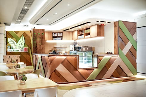 Kyoto Matcha Cafe:  Shopping Centres by Artta Concept Studio