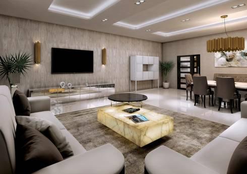 Colección Alexandra: modern Living room by S. T. Unicom Pvt. Ltd.