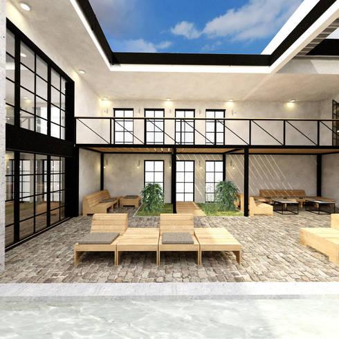 firmenkantine innenhof von die raumpiraten homify. Black Bedroom Furniture Sets. Home Design Ideas