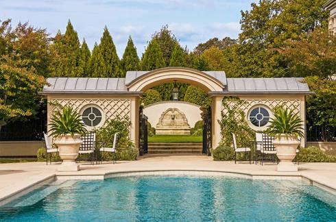 Villa Maria:  Garden Pool by andretchelistcheffarchitects