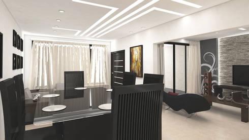 diseño sala comedor von planeacion y proyectos constructivos s.a de ...