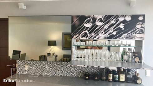 Detalle de Bar: Salas / recibidores de estilo moderno por EPG  Studio