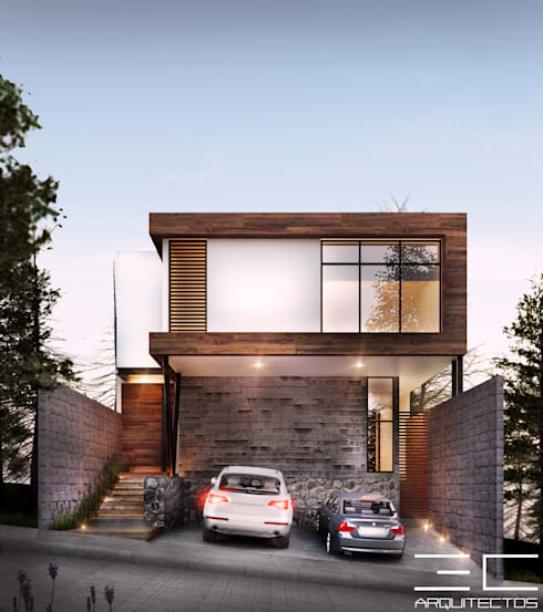 Residencia CS [León, Gto.]: Casas de estilo  por 3C Arquitectos S.A. de C.V.