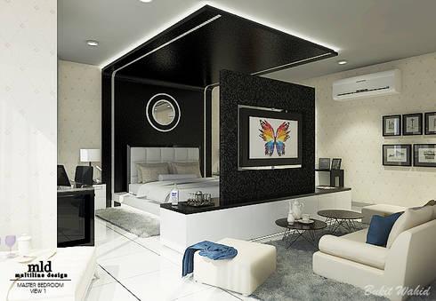 Master Bedroom Semarang - Bukit Wahid Regency:  Kamar Tidur by Multiline Design
