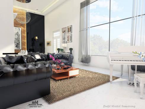 Living Room - Semarang:  Ruang Keluarga by Multiline Design