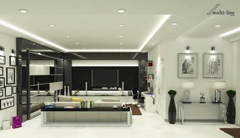 Family Room – Semarang:  Ruang Keluarga by Multiline Design