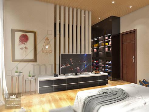 Master Bedroom - Tanjung priok:  Kamar Tidur by Multiline Design