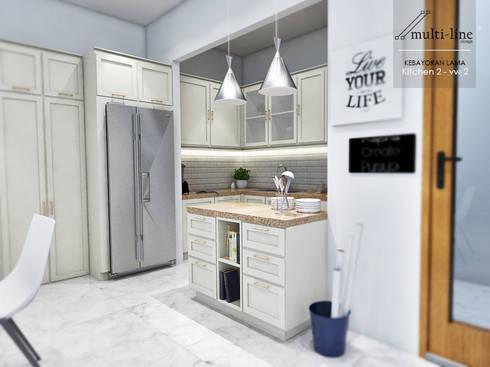 Kitchen Kebayoran Lama:  Dapur built in by Multiline Design
