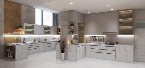 Kitchen - Selayar Pantai Indah Kapuk:  Dapur built in by Multiline Design