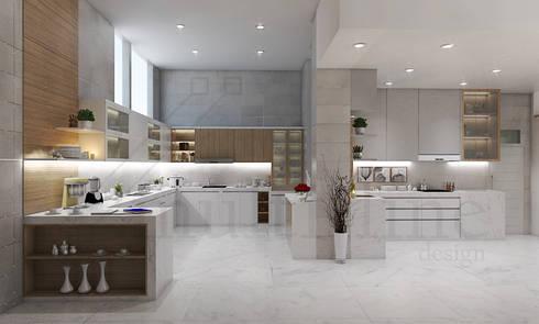 Kitchen – Selayar Pantai Indah Kapuk:  Dapur built in by Multiline Design