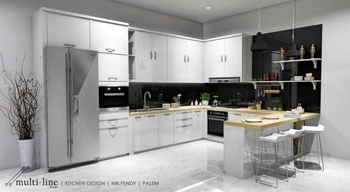 Kitchen - Taman Palm:  Dapur built in by Multiline Design