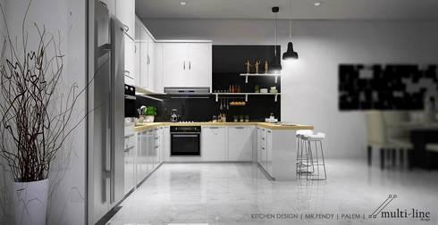 Kitchen – Taman Palm:  Dapur built in by Multiline Design