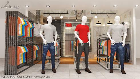 Public Store - Mangga Dua:  Ruang Komersial by Multiline Design