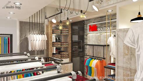 Public Store – Mangga Dua:  Ruang Komersial by Multiline Design