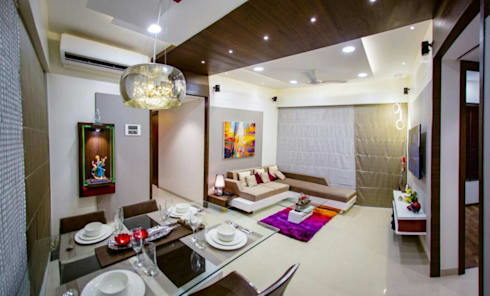Sitting Area: Modern Living Room By Vinayak Interior | Interior Designing  And Decorator Companies