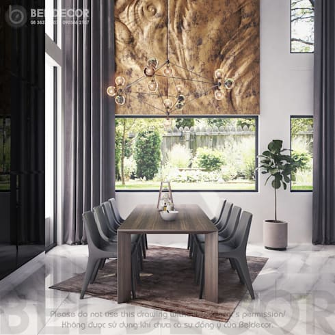 Dining Room:   by Bel Decor