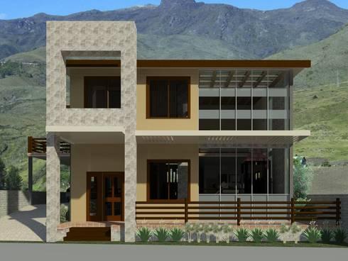 Fachada principal: Casas de estilo moderno por Diseño Store