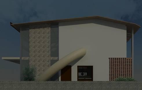 un lateral con tobogan: Casas de estilo moderno por Diseño Store
