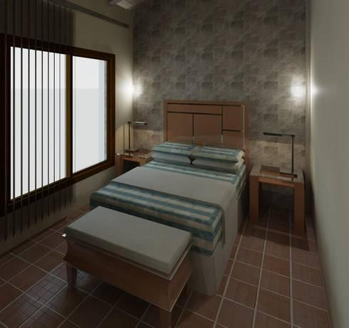 Habitación 02: Cuartos de estilo moderno por Diseño Store