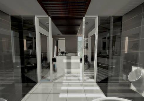 Modern Tropical Living:  Bathroom by Atelier Ara