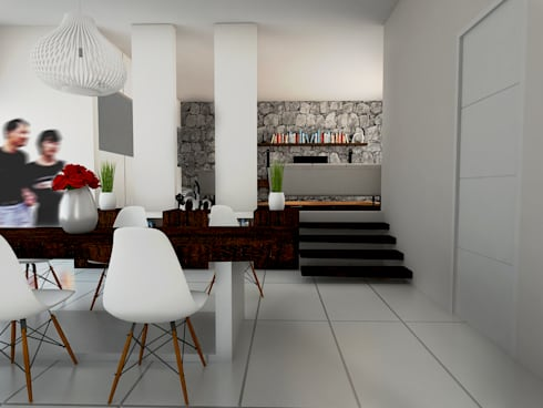 Modern Tropical Living:  Dining room by Atelier Ara