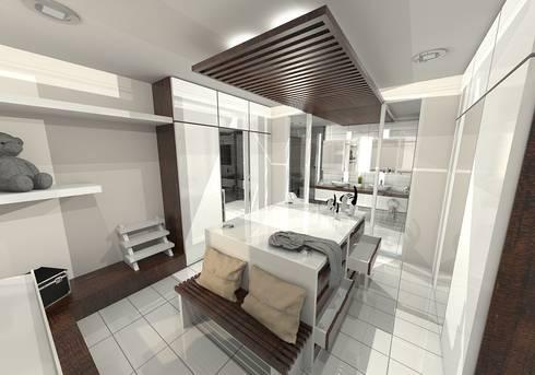 Modern Tropical Living:  Dressing room by Atelier Ara