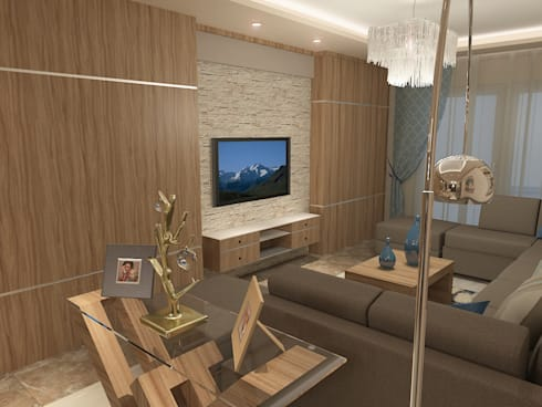 recepation area render 4 :  غرفة المعيشة تنفيذ Quattro designs