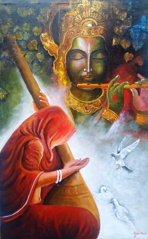 Meera Ke Krishna:  Artwork by Indian Art Ideas