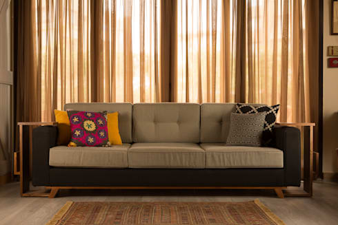 eclectic Living room by Mazura