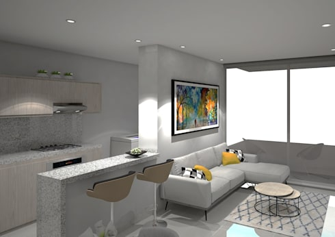 modern Living room by ecoexteriores