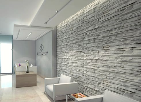 Diseño recepcion – Oficina Farmaceutica:  de estilo  por Savignano Design