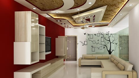Residential 1: modern Living room by Falcon Resources