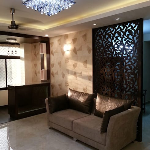 Silver Oaks Gurgaon: modern Living room by Radian Design & Contracts
